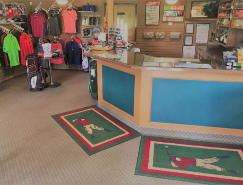 The entrance to the proshop